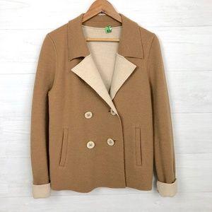HWR Anthropologie Bonette Boiled Wool Jacket